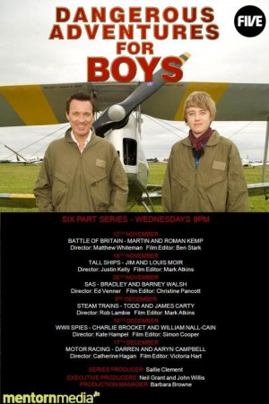"CHANNEL 5. ""DANGEROUS ADVENTURES FOR BOYS"", Wales & Hampshire."